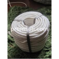 Фал плетеный капроновый (полиамидный), диаметр 12 мм