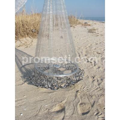 Кастинговая сеть с двойным кольцом 4 м (лесковая) яч.20мм