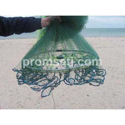 Кастинговая сеть с кольцом 4 м (леска) яч.20мм