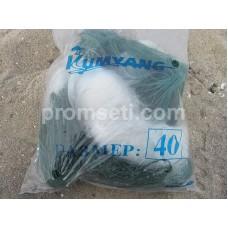 Сеть трехстенка Kumyang 40 мм х 1.5 м х 50 м (груз вшитый)