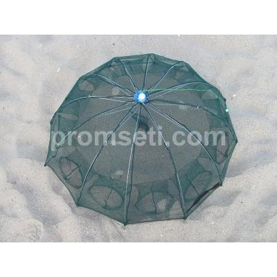 "Раколовка ""Зонт"" 10 входов, диаметр 90 см (от 14-ти шт)"