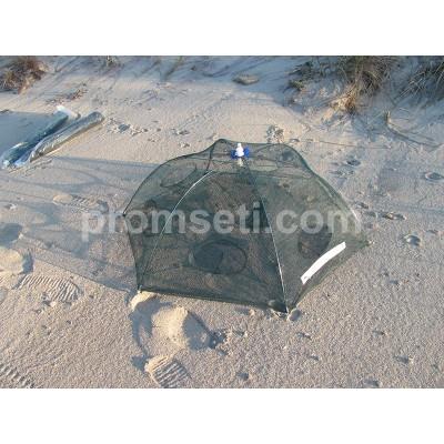 "Раколовка ""Зонт"" 6 входов, диаметр 90 см (от 2-х шт)"