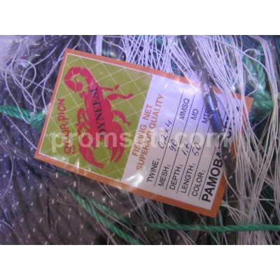 Рамовая сеть Scorpion 90мм х 0.2*4мм х 1.7м х 50м (на шнурах)