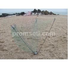 Зонт-хапуга на пружинах 1.2 м х 1.2 м (капрон 16 мм, без косынок)