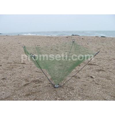 Зонт-малявочник на пружинах 1.2 м х 1.2 м (купол 6.5 мм, косынки 35 мм)