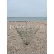 Зонт-хапуга на пружинах с косынками 0.8 м х 0.8 м (капрон, ячея 20 мм)