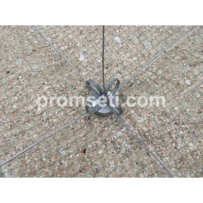 Зонт-хапуга на пружинах 0.8 м х 0.8 м (ячея 16 мм, без косынок)