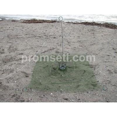Зонт-малявочник на пружинах 0.8 м х 0.8 м (капрон, ячея 12.0 мм)